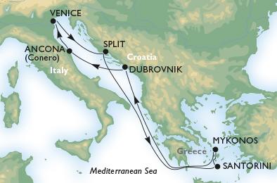 18年5月-10月 诗歌号 东地中海 7晚航线